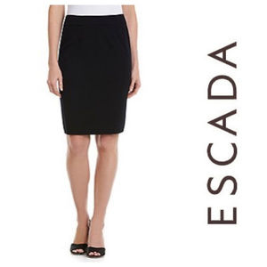 Escada Wool Black Pencil Skirt